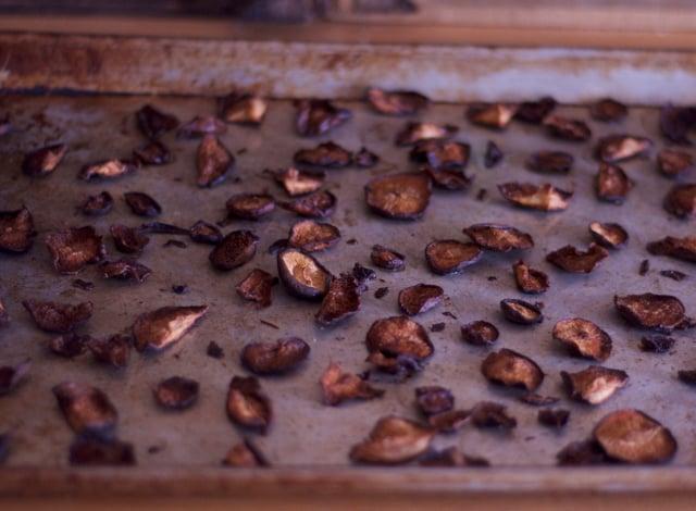 roasted shiitake mushrooms