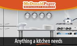 McDonald paper banner ad
