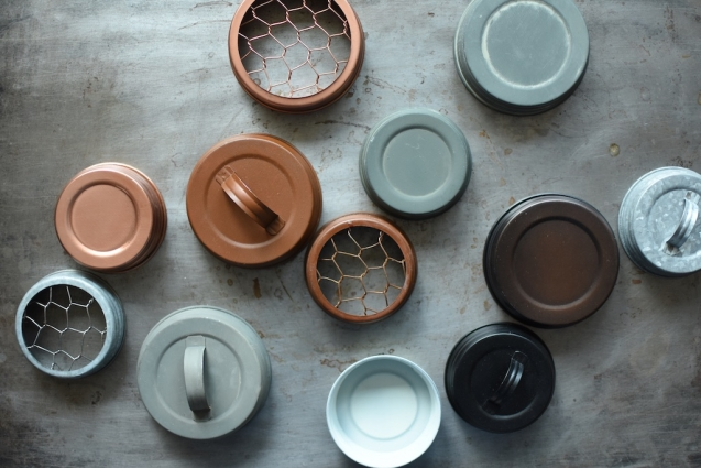 An assortment of decorative lids from Mason Jar Lifestyle