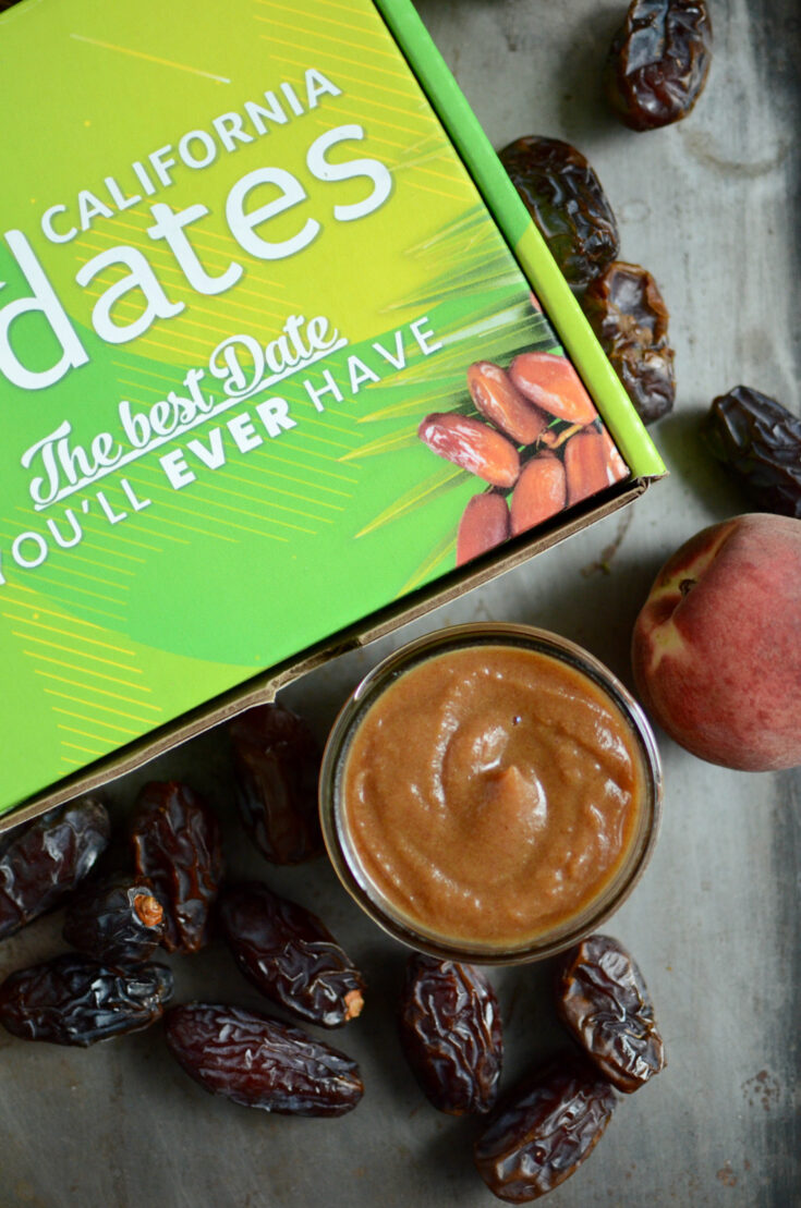 Date Sweetened Peach Drizzle