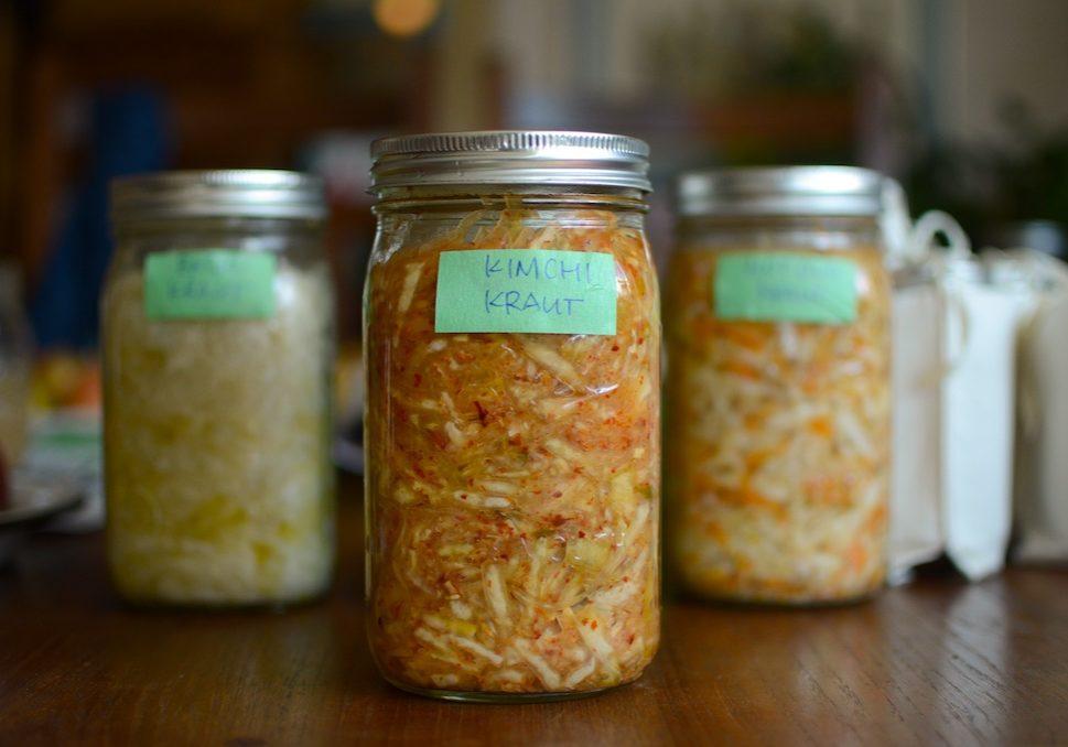 kimchi kraut in the jar
