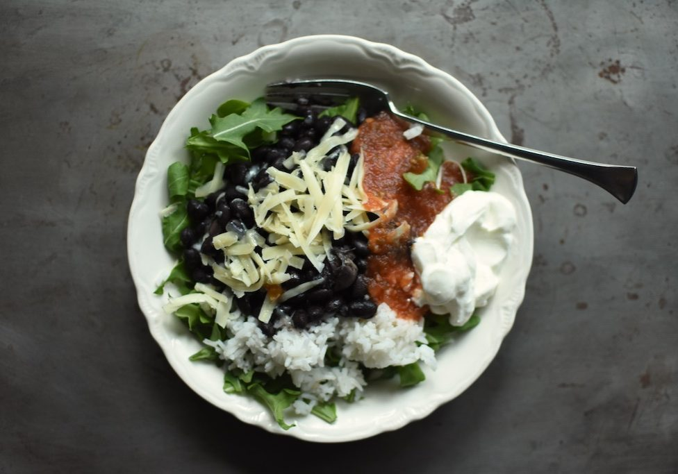 plated black beans