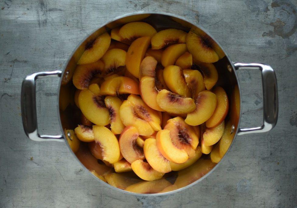 slivered peaches