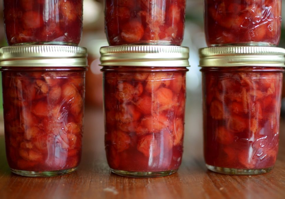 sour cherry jam close